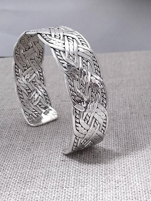 Handmade Woven Sterling Silver Cuff