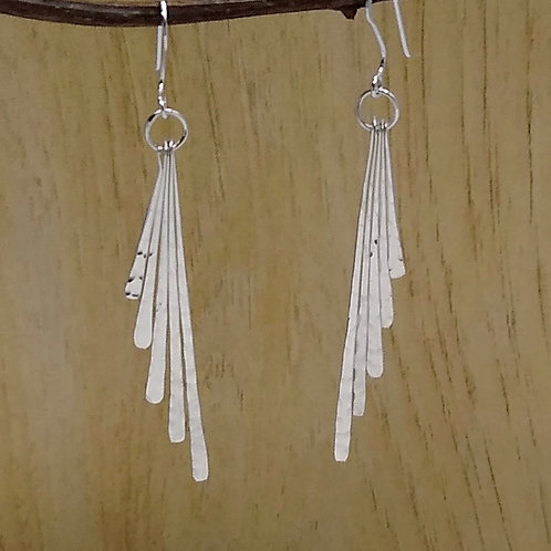 Sterling Silver Classic 5 Hammered Dangles.