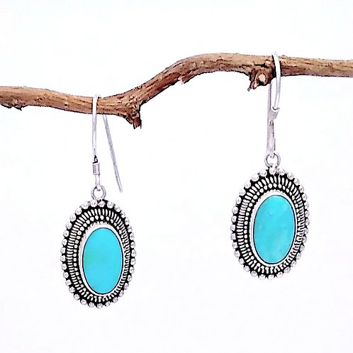 Sterling Silver  and Turquiose Earring