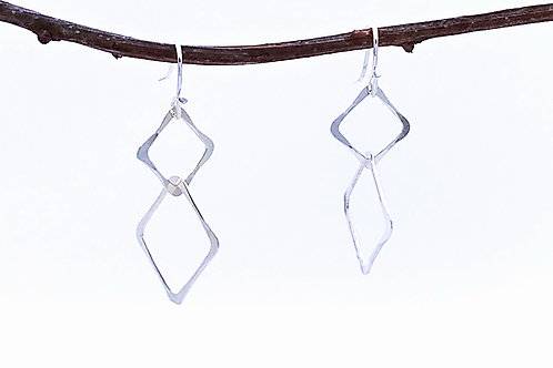 Sterling Connected Squares Earrings