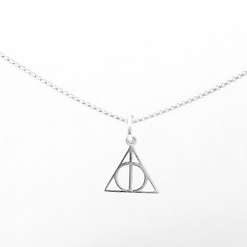 Sterling Silver Deathly Hollows Pendant