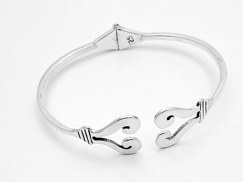 Sterling Cuff With A Hinge