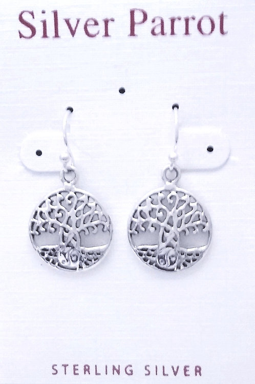 Sterling Silver Earring With Yin Yang Roots