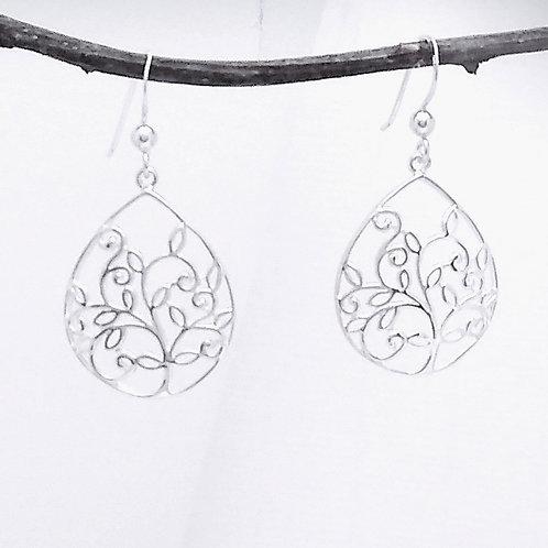 Sterling Filigree Tree Earrings