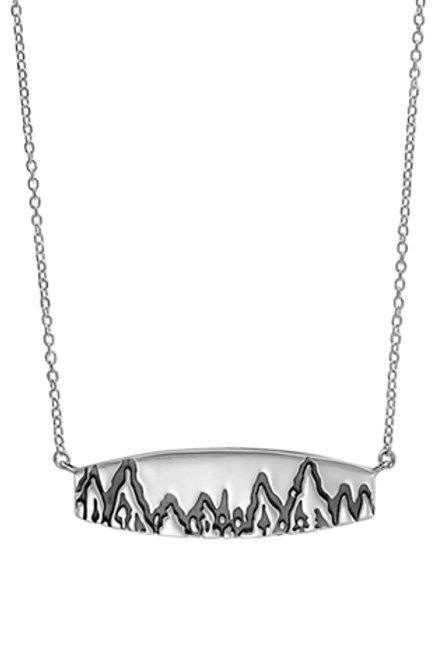 BOMA Sterling Mountain Range Bar Necklace
