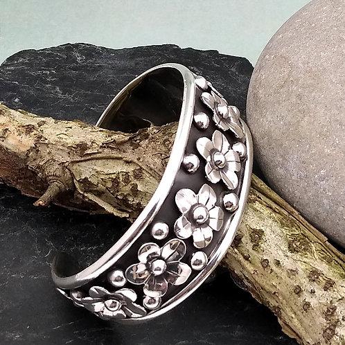 Sterling Silver Handmade Artisan Cuff