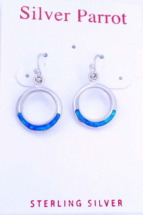 Inlaid Opal in Sterling Silver Earrings