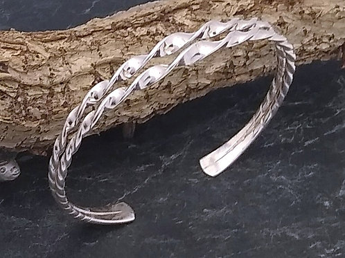 Sterling Silver Cuff 2 Twisted Bands