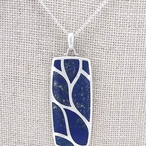Sterling Silver Lapis Inlay Pendant