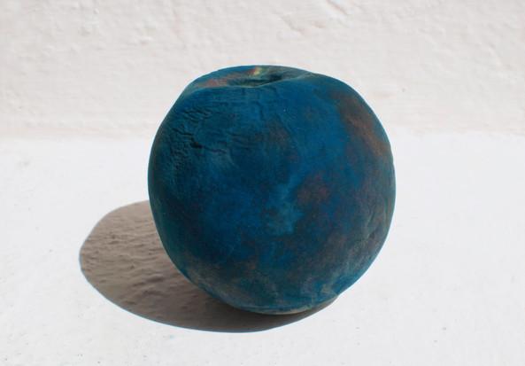 Decaying peach cyanotype
