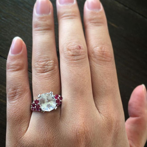Looks better on the finger... And better hands. Such beautiful stones, hand cut by my mother Kim Swanson.jpg
