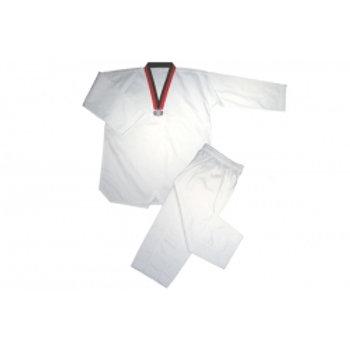 Wholesale -  V Neck TKD Uniform Red-Black Trim