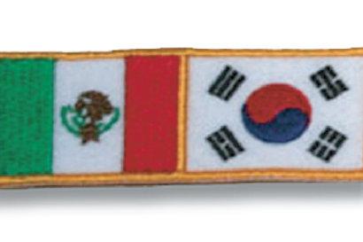 Mexico/Korea Flag Patch