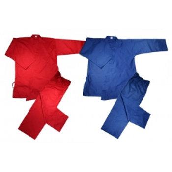 Wholesale - V-Neck Tae Kwon Do Uniform -Blue Red