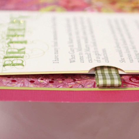 A close up of a handcrafted secret pocket in a birthday album