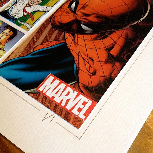 SPIDERMAN - Original ComicArt Collage - Limited Edition