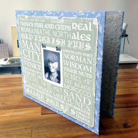 Personalised canvas covered album
