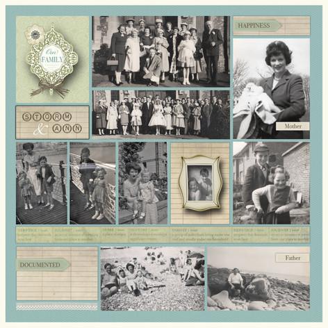 Vintage inspired heritage scrapbook page