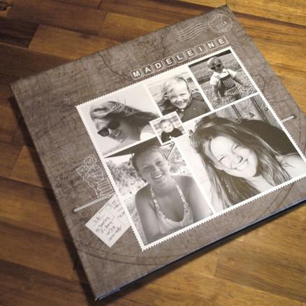 Custom designed canvas covered album for a 21st Birthday