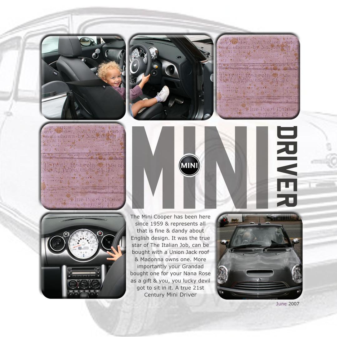Modern digital scrapbook page
