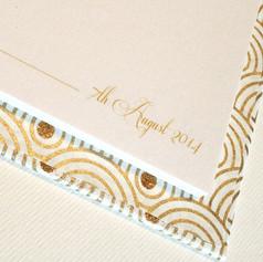 Custom printing inside a wedding guest book