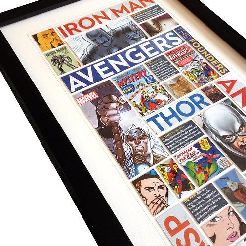 AVENGERS - Original ComicArt Collage - Limited Edition
