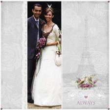Vintage inspired wedding scrapbook page