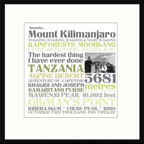 Personalised achievement wordart print