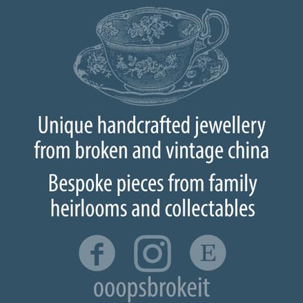 Business card for jewelery company