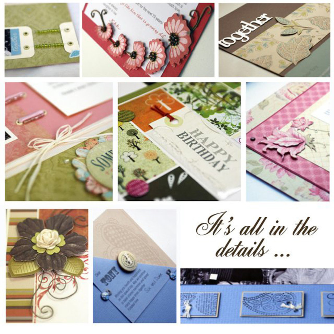 Design elements from scrapbook pages