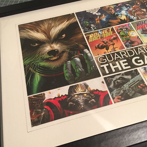 GUARDIANS OF THE GALAXY feat. Rocket Racoon - Original ComicArt Collage