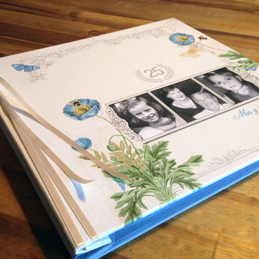 Custom designed 25th wedding anniversary album
