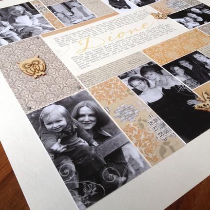 Handcrafted personalised memorial photoart