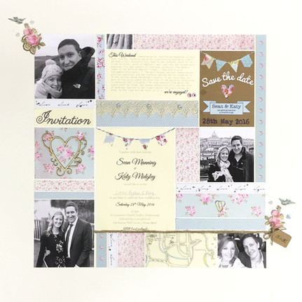 Handcrafted personalised engagement photo art