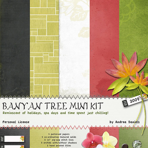 Digital Scrapbooking Paper Pack Banyan Tree - PERSONAL License