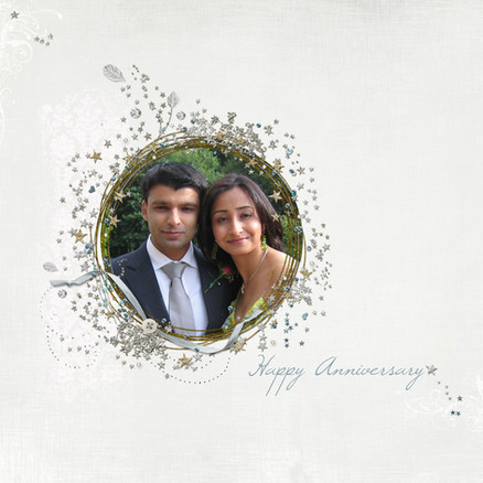 A book cover of an anniversary album