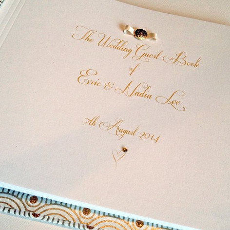 Wedding guest book with personalised printing