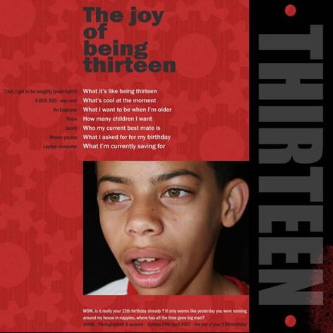 The Joy of being Thirteen