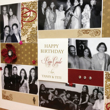 Handcrafted personalised 50th birthday photoart