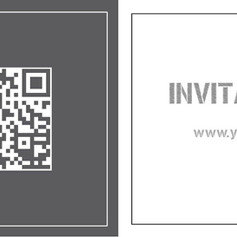 Cool QR code birthday party invitation