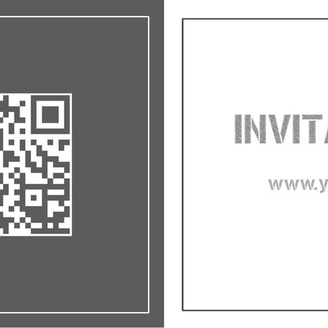 Cool QR code birthday party invitation