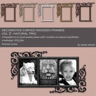 Dgital decorative carved wooden frame