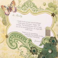 Pretty 70th birthday page with message