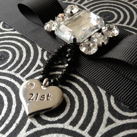 21st Birthday album with heart pendant