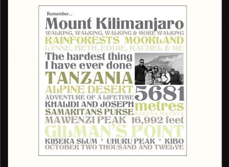Kilimanjaro Keepsake