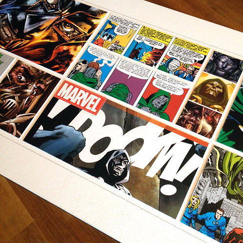 DR DOOM - Original ComicArt Collage - Limited Edition