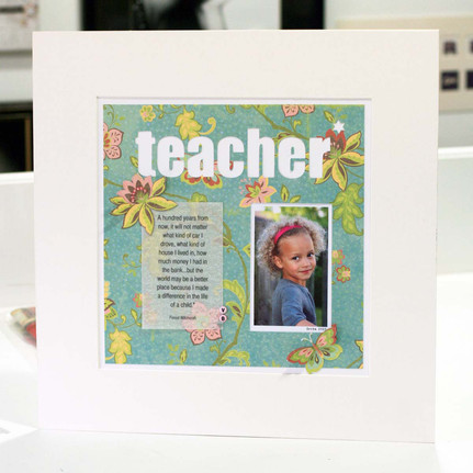 Handcrafted personalised teacher photoart