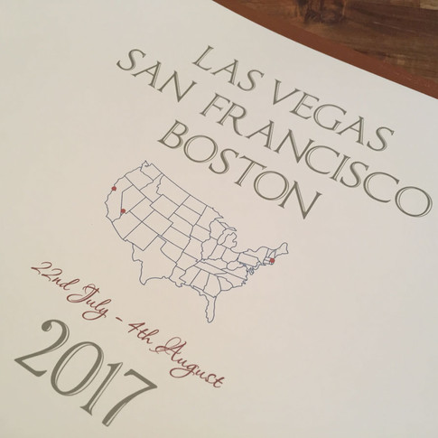 Bespoke printed title page for USA tour
