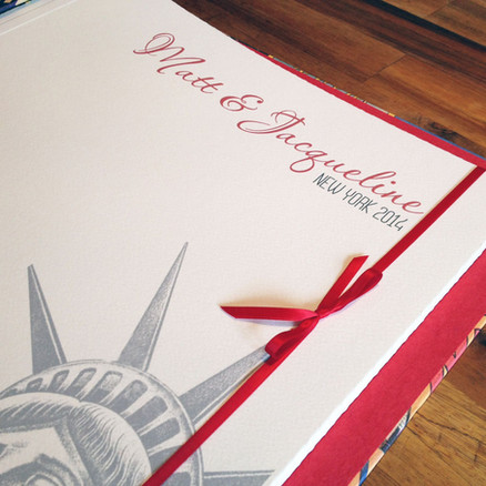 Bespoke printed New York title page