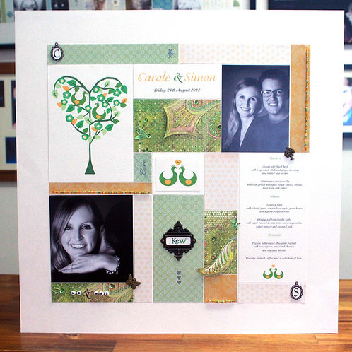 Personalised Engagement Photo Collage Art